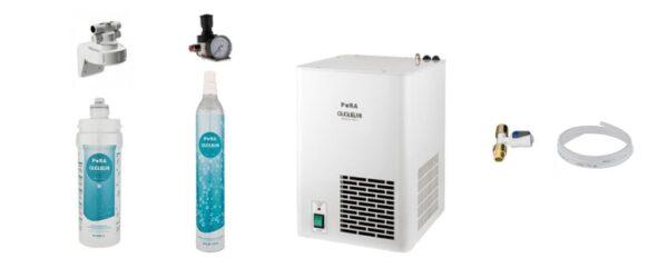 PURA Indbygningskøler vandkøler sæt ekskl. tappehane fra Waterrex